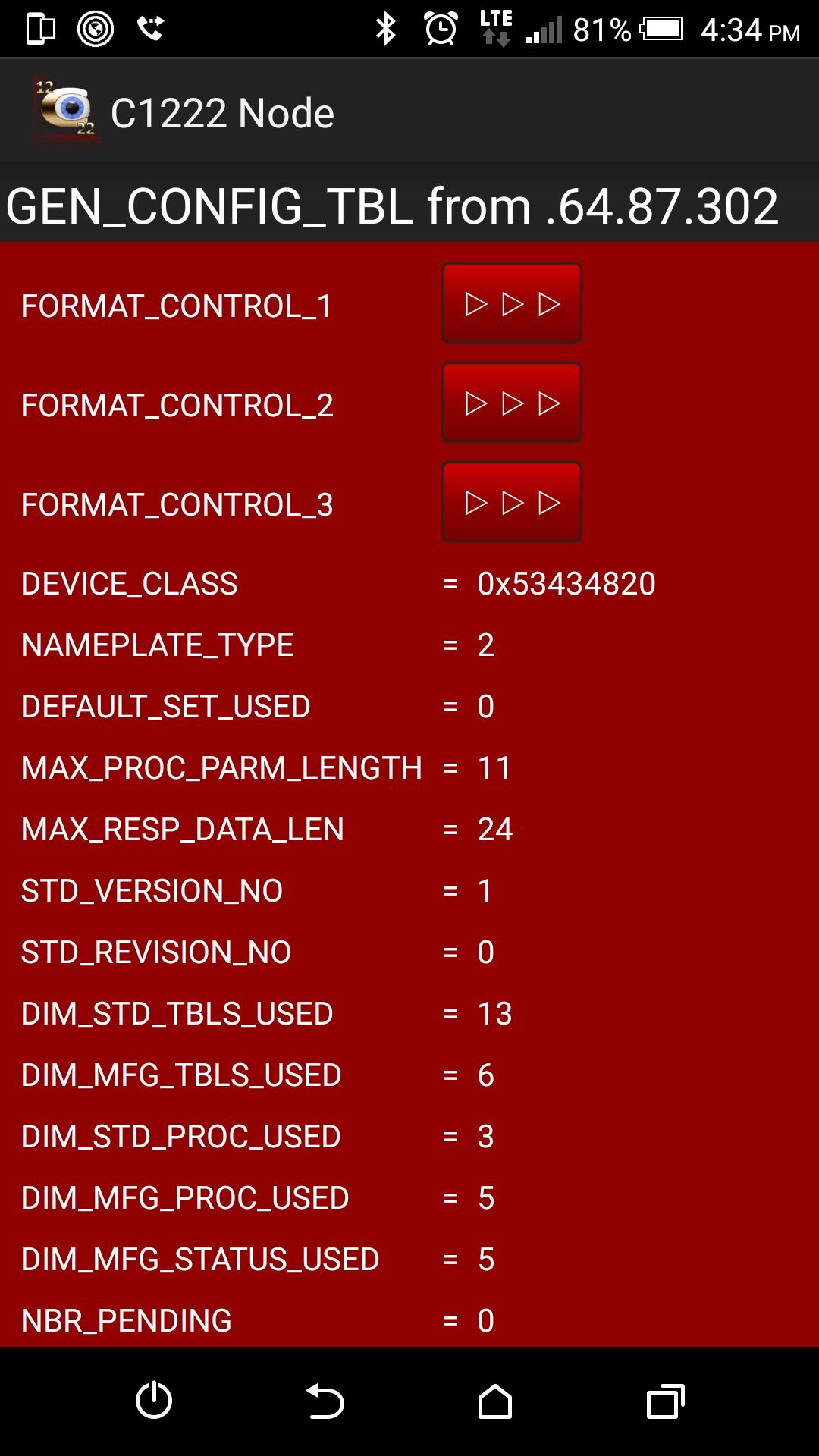 Table 0 GEN_CONFIG_TBL